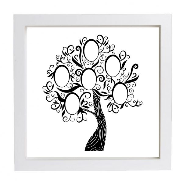 Wallverbs Family Tree Personalized Picture Frame Set: Personalised Framed Family Tree Frame