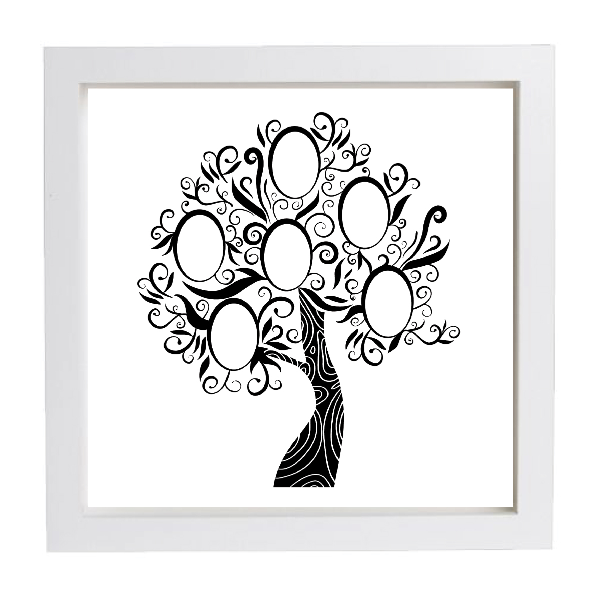 Personalised Framed Family Tree Frame | Family Tree Prints